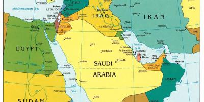 Bahrajn Mapa Blizkeho Vychodu V Bahrajnu Na Strednim Vychode